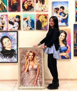 Офис портрет на холсте holstagram.ru