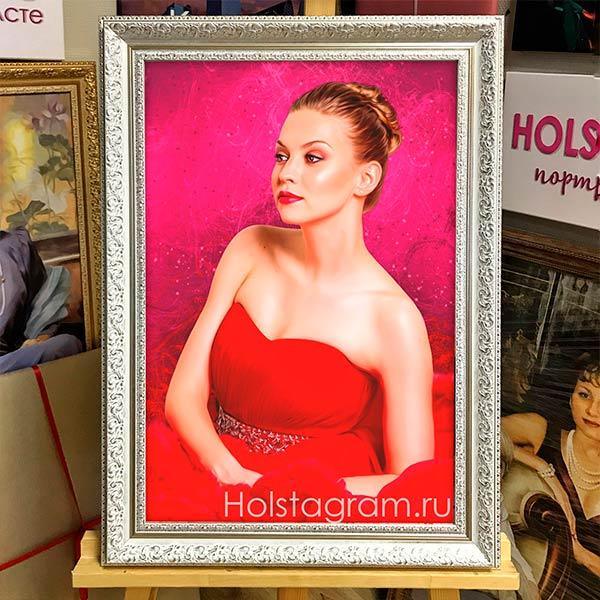 Портрет по фотографии в раме