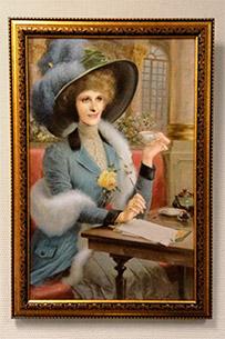 Портрет женщины в шляпе