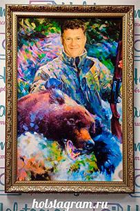 портрет мужчины охотника